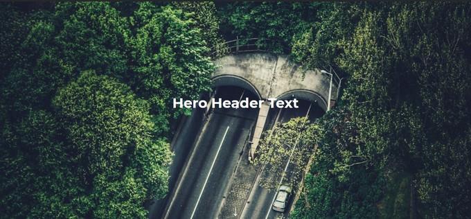 Flexbox Hero Header