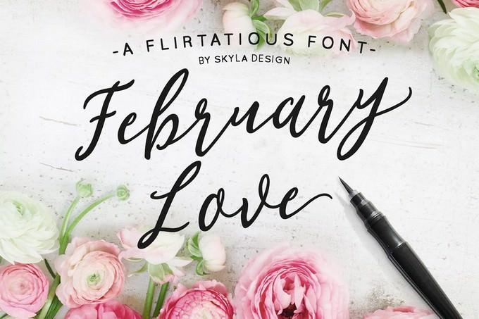 Flirty Feminine font, February Love