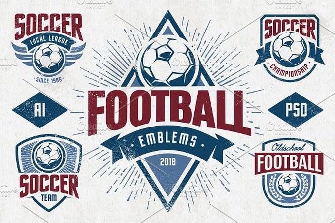 Football Emblems Logo Template