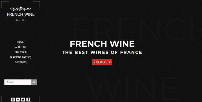 French Wine — Responsive Magento 2 Theme