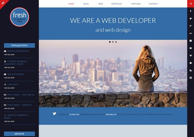 Fresh - Blog and Personal WordPress Theme