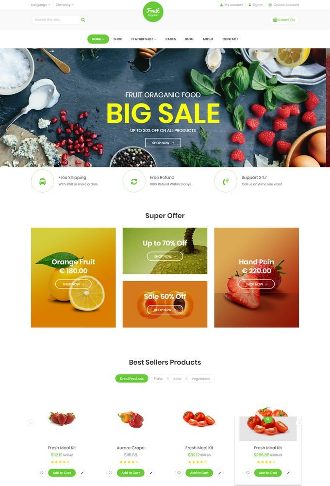 Fruit Shop - Coffee Responsive Magento Theme