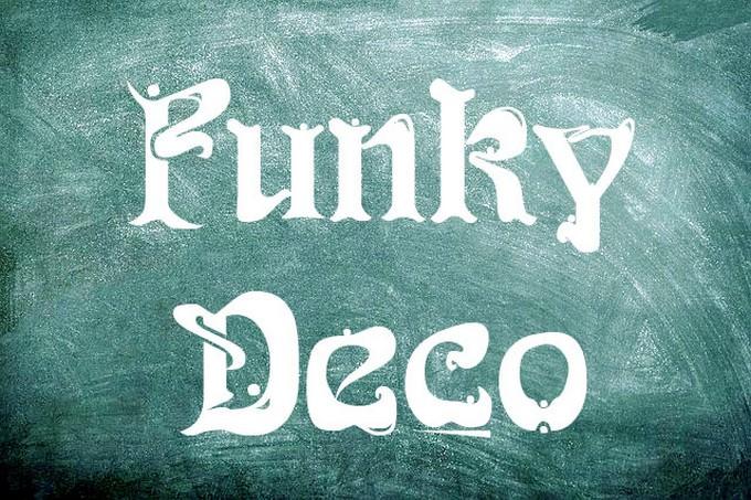 Funky Deco font