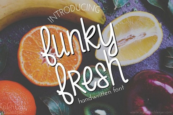 Funky Fresh- Handwritten Font