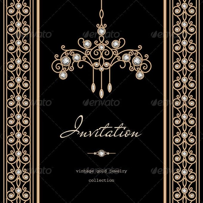 Gold Wedding Invitation Background