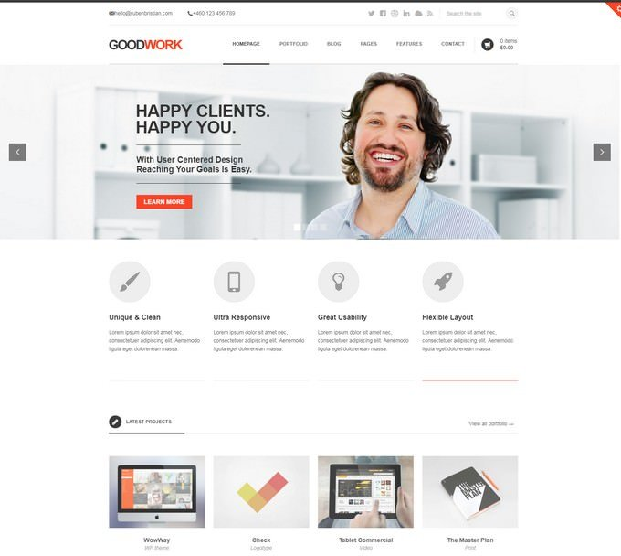 GoodWork - Modern Responsive crowdfunding WordPress Theme