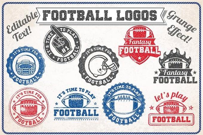 Grunge Football Logos
