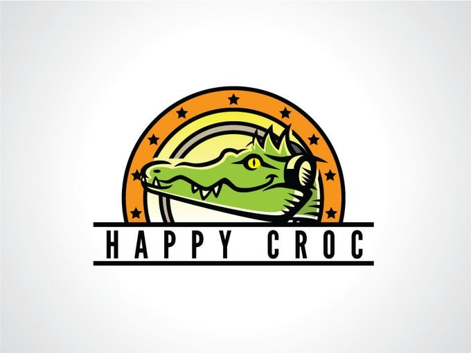 Happy Croc Logo Template