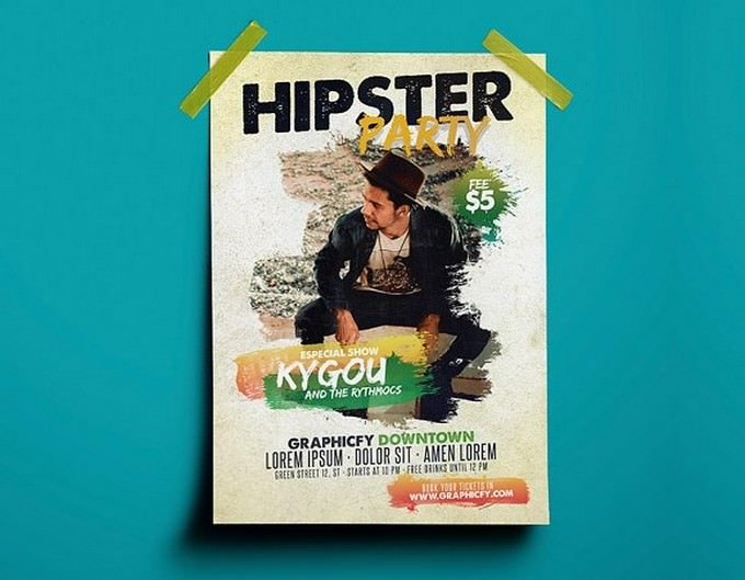 Hipster Party Flyer Templates