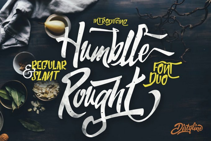 Humblle Rought - Font