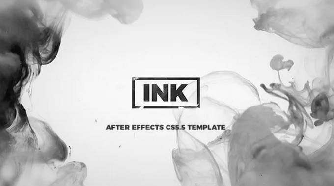INK Titles– After Effects Slideshow Template