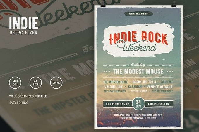 Indie Rock Flyer