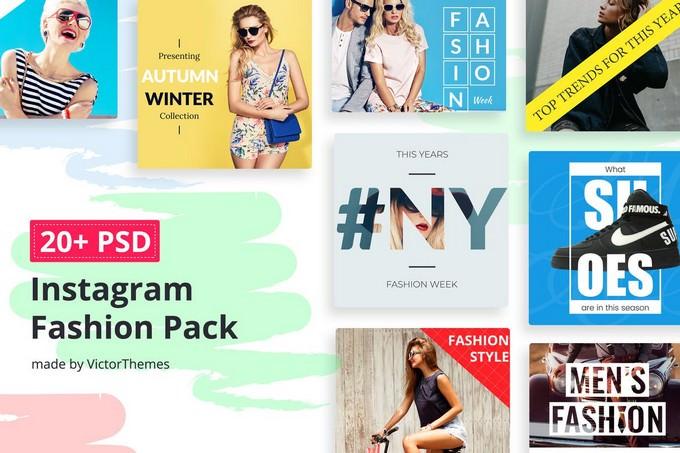 Instagram Social Media Fashion Pack