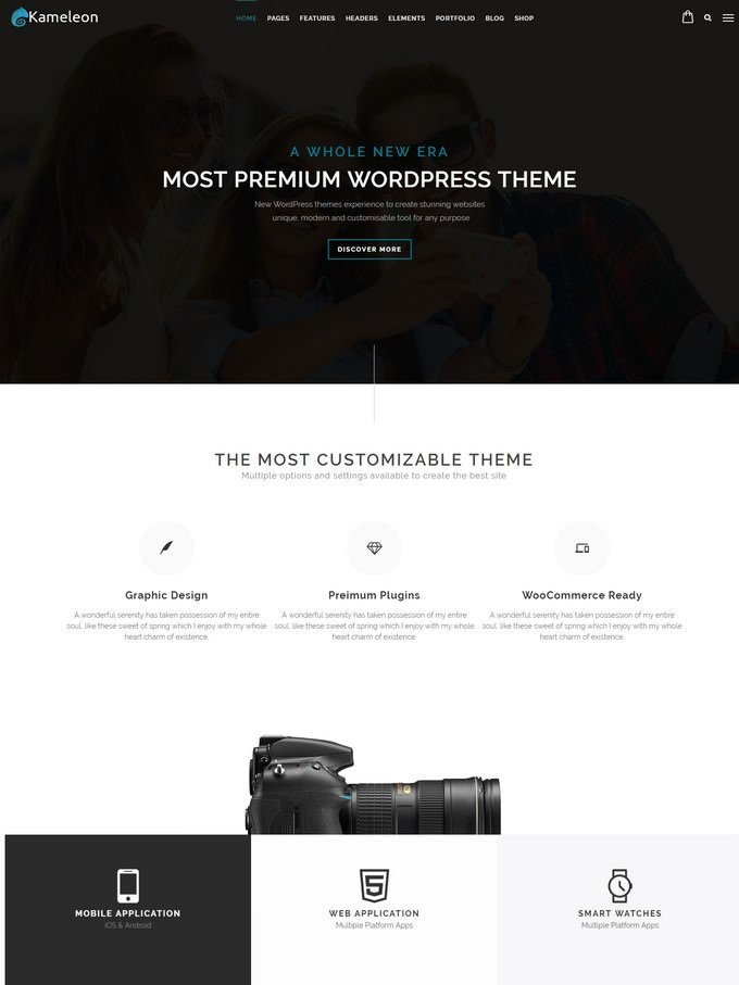 Kameleon Digital Agency Responsive Creative Theme