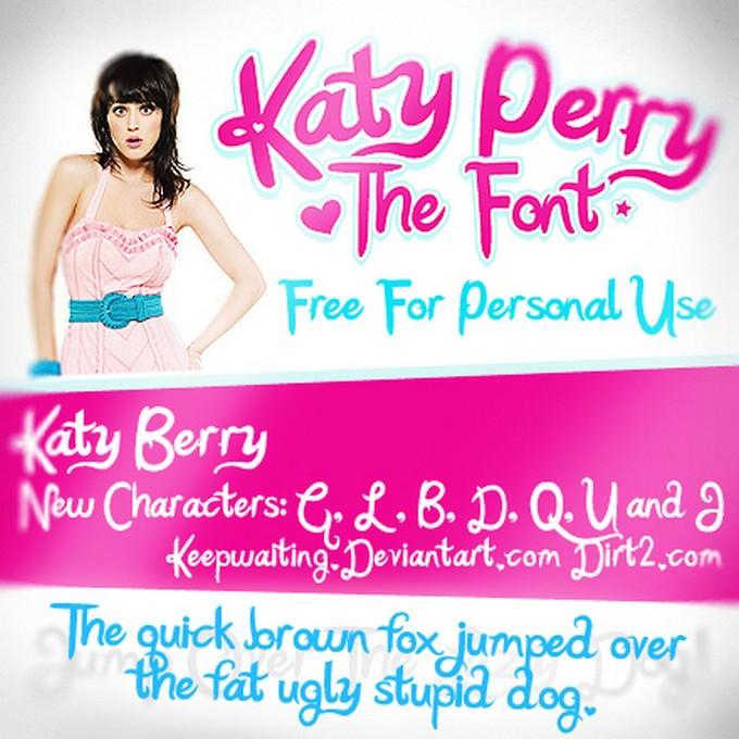 Katy Berry - Katy Perry Font