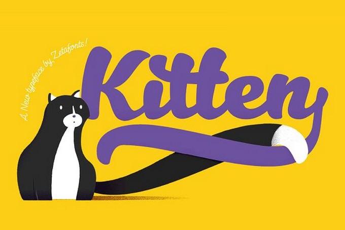 Kitten - 13 Fonts