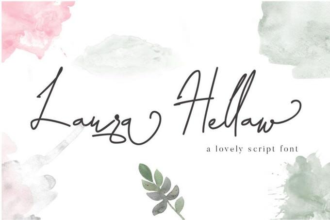 Laura Hellaw Lovely Script Font