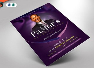 Lavender Pastor's Appreciation Flyer