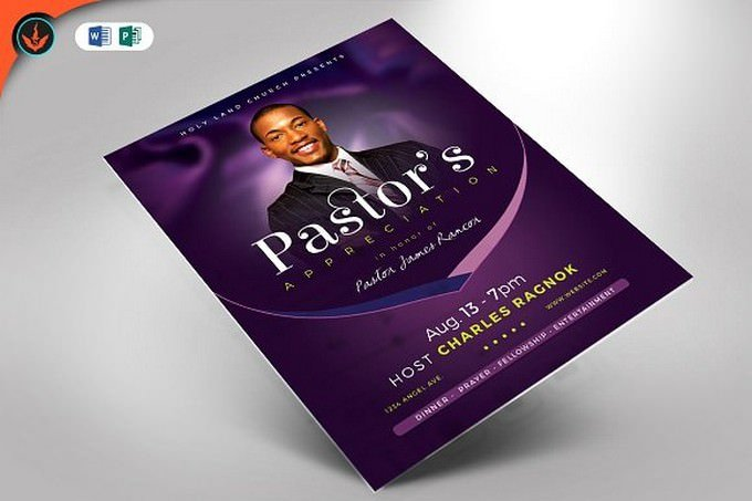 Lavender Pastor's Appreciation Flyer