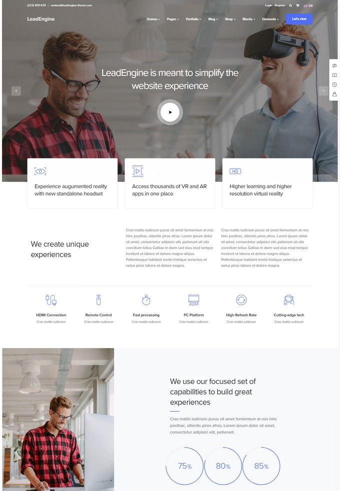 LeadEngine - Digital Agency WordPress Theme with Page Builder