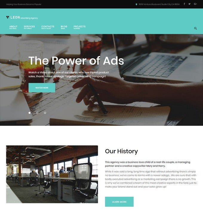 Leon - Digital Agency WordPress Theme