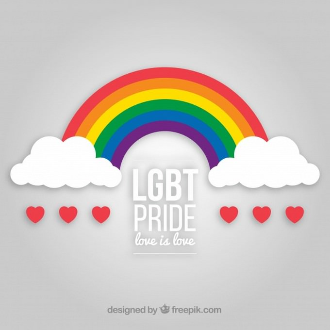 Lgbt Pride Background With Rainbow