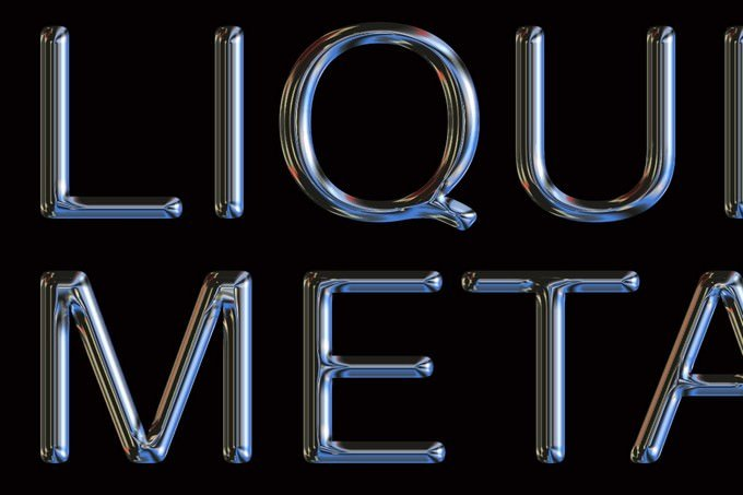 Liquid Metal Psd Text Effect