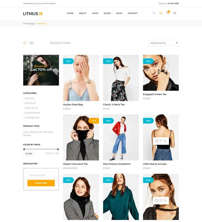 Litmus - Creative Multipurpose WordPress Theme