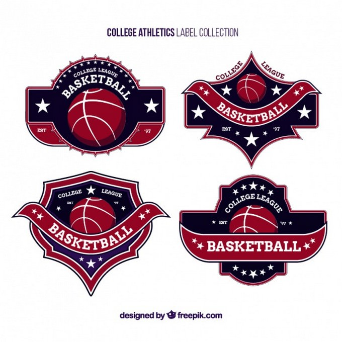 Logos For College Basketball Teams template