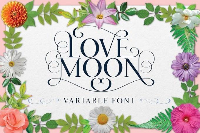 Love Moon - Variable Font + Bonus