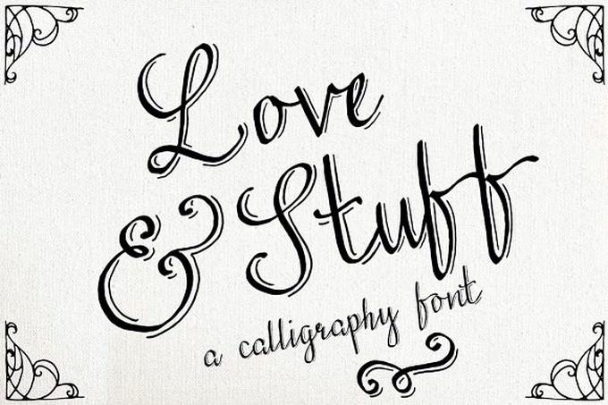 Love & Stuff - Calligraphy Font