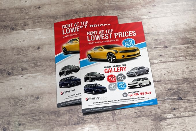Luxury Car Sale Rental Flyer Ad v2