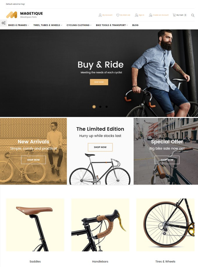 Magetique - Bikes Magento Theme