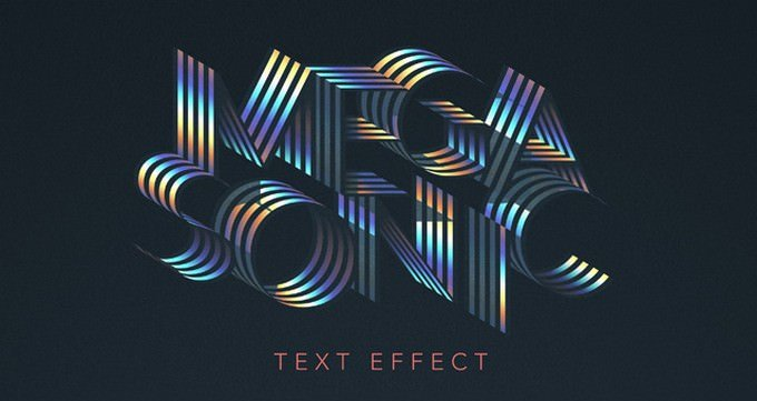 Mega Sonic Retro Text Effect