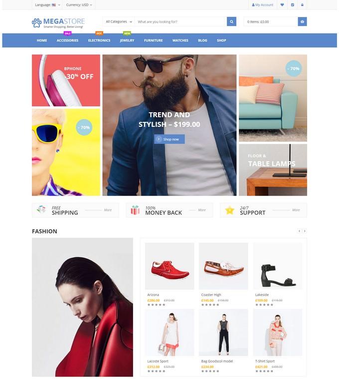 Mega Store - Super Market RTL Responsive WooCommerce WordPress Theme