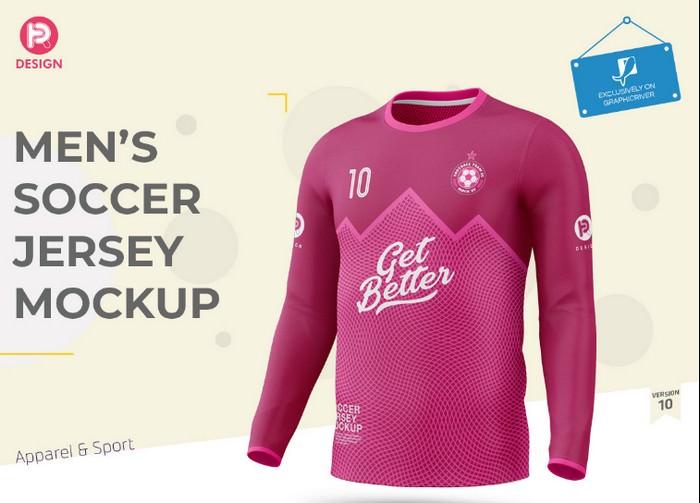 Men's Soccer Jersey Mockup V10