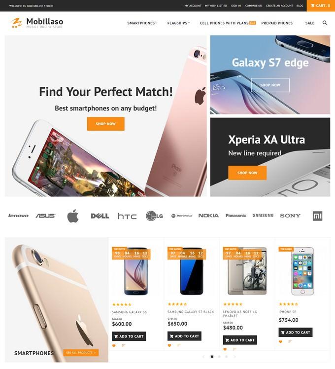 Mobillaso - Mobile Store Responsive Magento Theme