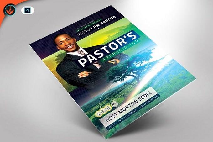 Modern Pastor Appreciation Flyer
