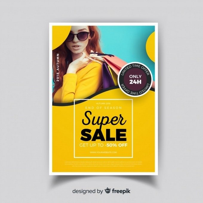 Modern Super Sale Flyer Template