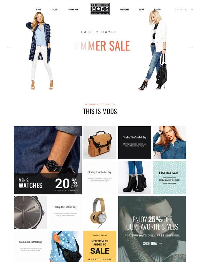 Mods A Stylish Clothes Shop & Fashion Blog WordPress Theme