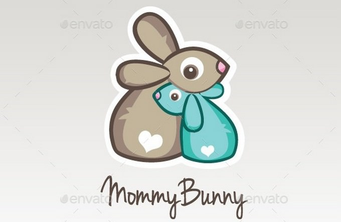 Mommy Bunny - Childcare Rabbit Logo