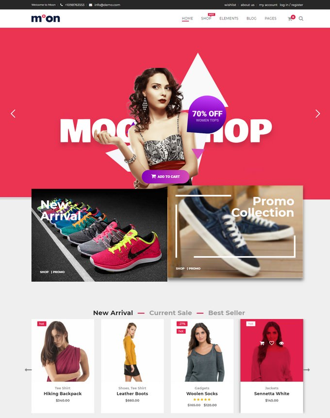 Moon Shop - Responsive eCommerce WordPress Theme for WooCommerce