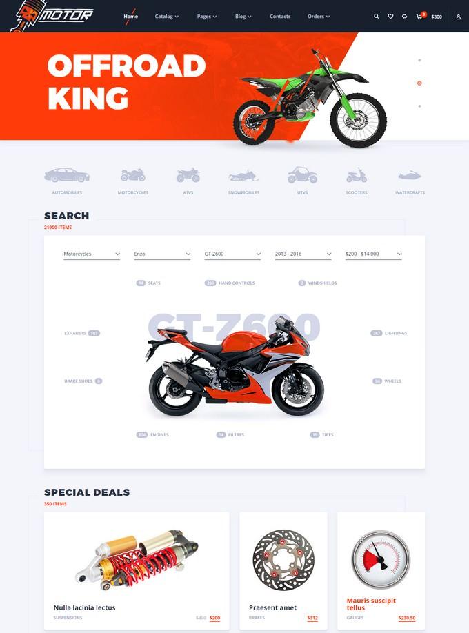 Motor Responsive HTML5 eCommerce Template