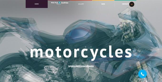 Motorbikes Website Template