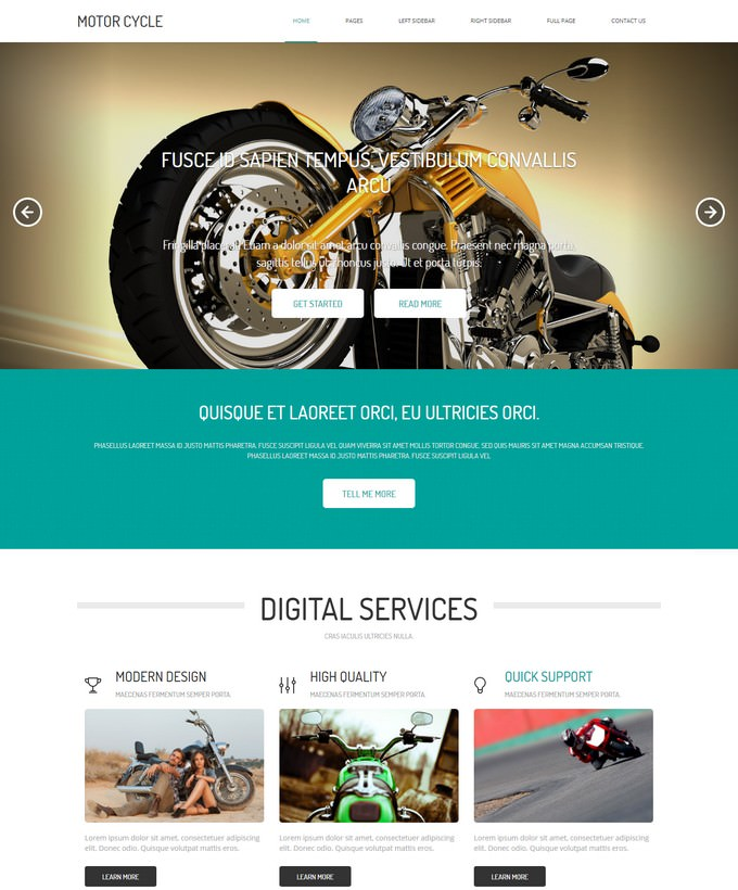 Motorcycle HTML Template