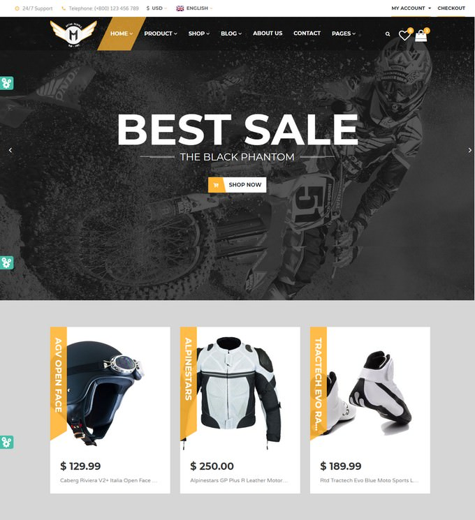 Motorcycle Online Store HTML Template