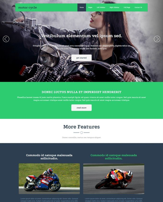 Motorcycle Racing Website Template