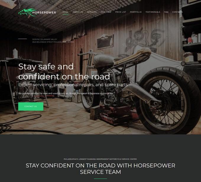 Motorcycle Repairs Premium Moto CMS 3 Template