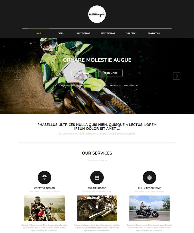 Motorcycle Web Template