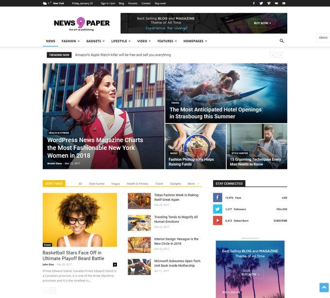 Newspaper Adsense Optimize Theme
